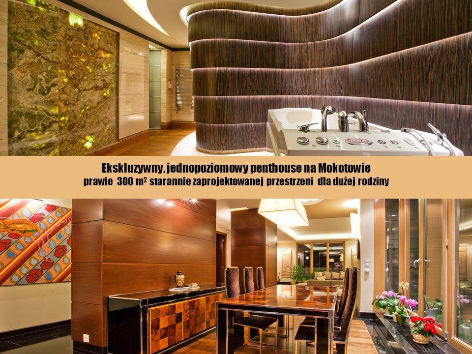 Ekskluzywny, jednopoziomowy penthouse na Mokotowie prawie 300 m 2 starannie zaprojektowanej przestrzeni dla dużej rodziny