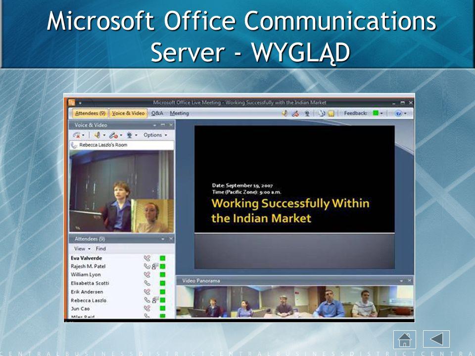 Microsoft Office Communications Server - WYGLĄD