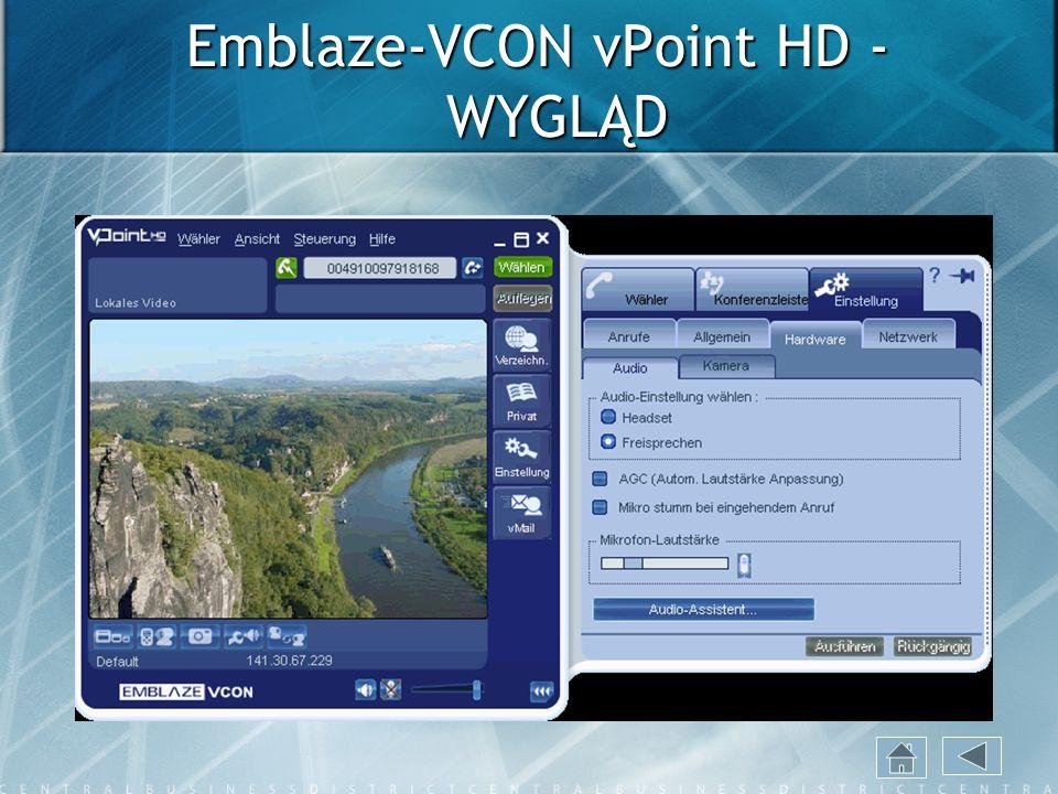 Emblaze-VCON vPoint HD - WYGLĄD