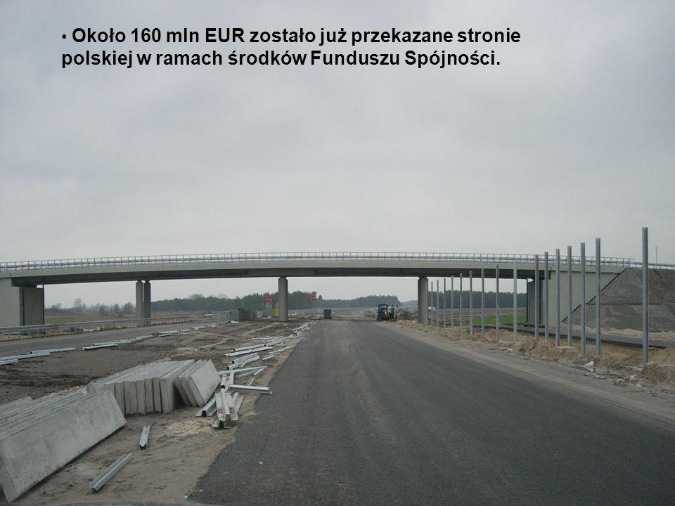 Około 160 mln EUR zostało już przekazane stronie polskiej w ramach środków Funduszu Spójności.