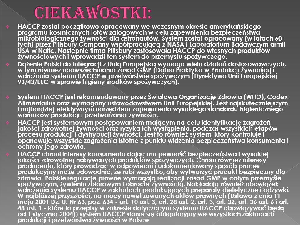W Polsce, problem jakości produkcji żywności został ujęty w ramy prawne dla asortymentu dietetycznych środków spożywczych, używek dietetycznych i odżywek przez Ministra Zdrowia w roku 1996 (Rozp.