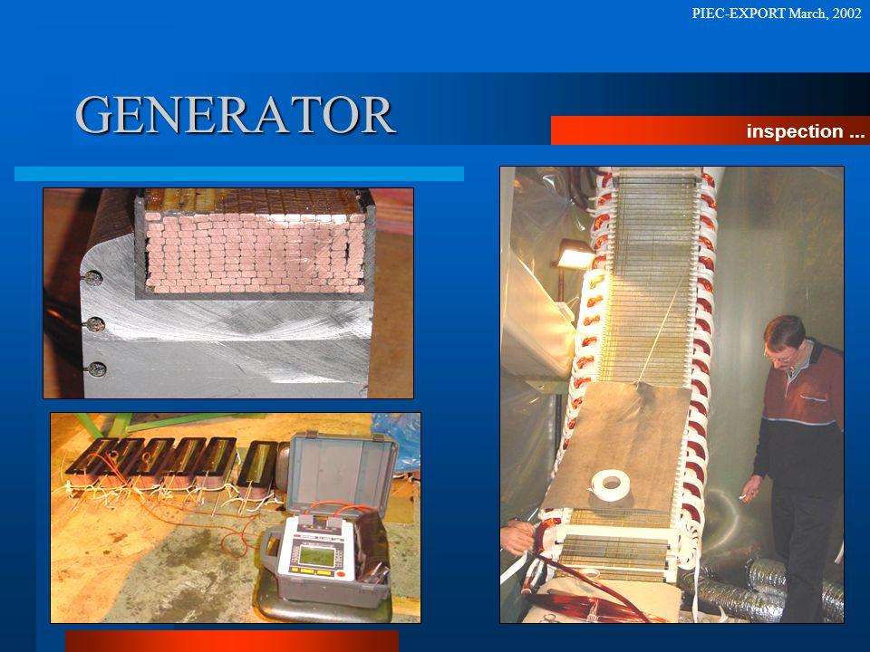 GENERATOR inspection... PIEC-EXPORT March, 2002