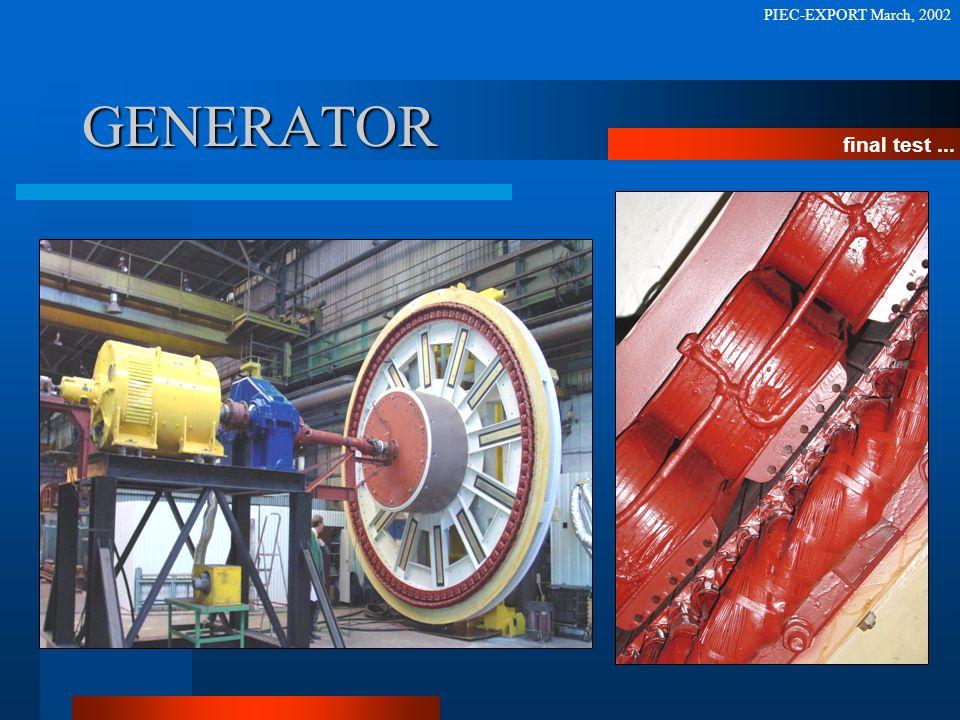 GENERATOR final test... PIEC-EXPORT March, 2002