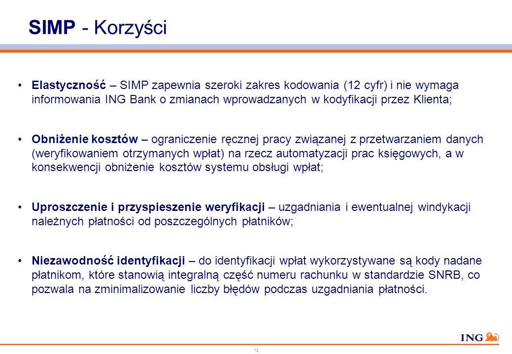 11 WIERZYCIEL – Zakład Energetyczny - FAKTURY VAT - FORMULARZE PŁATNICZE - … - FAKTURY VAT - FORMULARZE PŁATNICZE - … DŁUŻNIK ODDZIAŁY ING BANKU POCZT