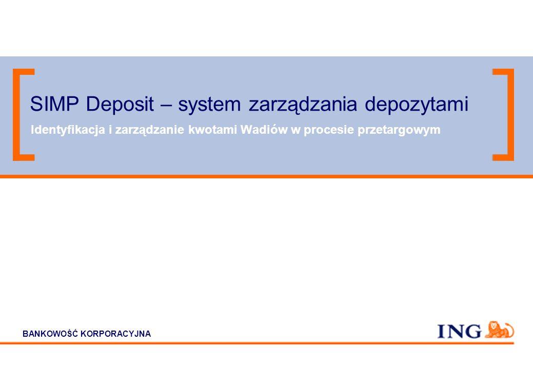 12 SIMP - Korzyści Elastyczność – SIMP zapewnia szeroki zakres kodowania (12 cyfr) i nie wymaga informowania ING Bank o zmianach wprowadzanych w kodyf