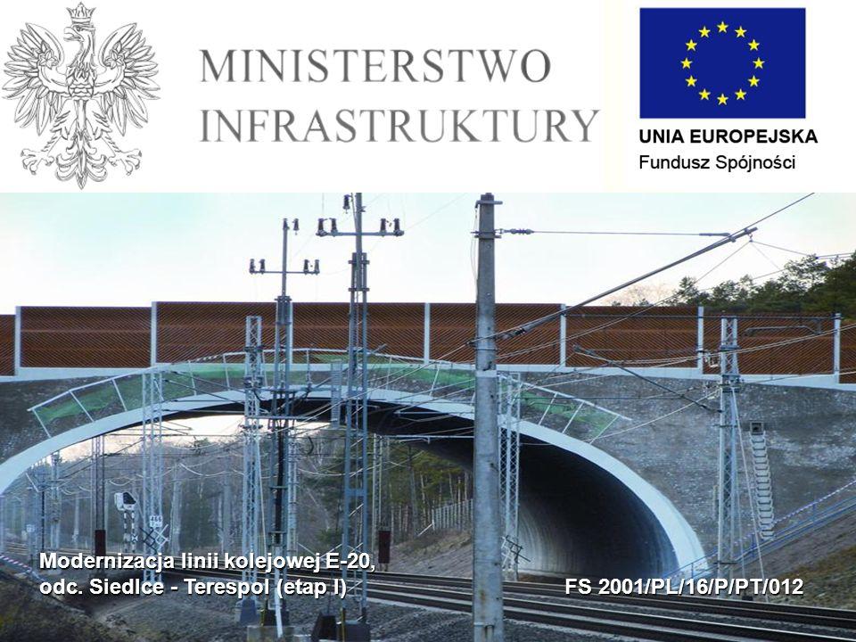 Modernizacja linii kolejowej E-20, odc. Siedlce - Terespol (etap I) FS 2001/PL/16/P/PT/012