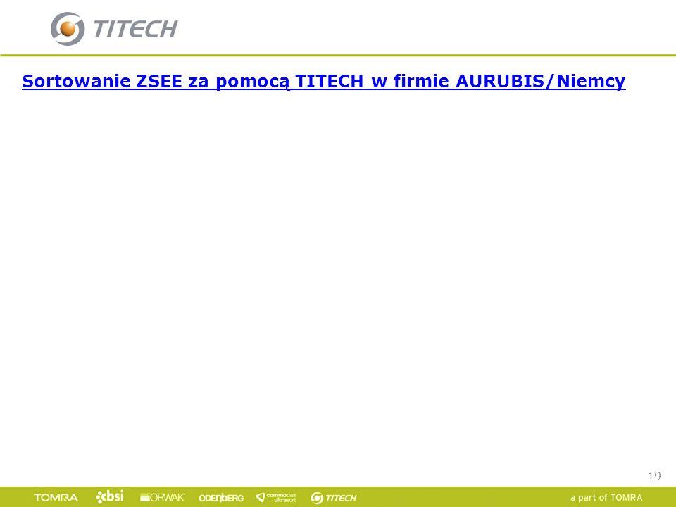 19 Sortowanie ZSEE za pomocą TITECH w firmie AURUBIS/Niemcy