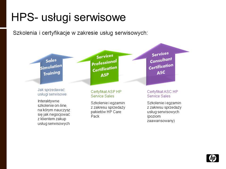 HPS- usługi serwisowe Szkolenia i certyfikacje w zakresie usług serwisowych: Jak sprzedawać usługi serwisowe Interaktywne szkolenie on-line, na kórym
