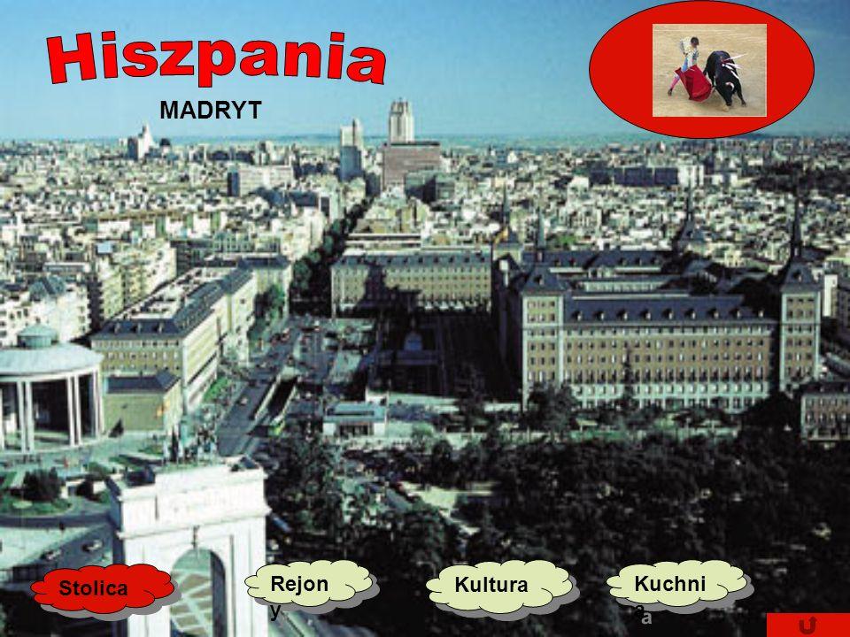 Jak Karolek poznawał Stolica Kultur a Kultur a Kuchni a Kuchni a Rejon y Rejon y Stolica: Madryt (Madrit) Powierzchnia: 504 782 km2 Ludność: 40 080 ty