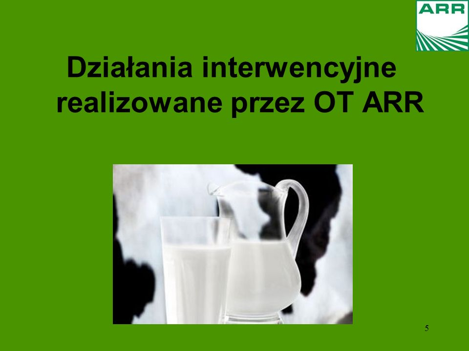 5 Działania interwencyjne realizowane przez OT ARR