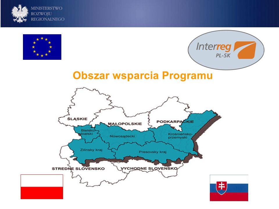 Program IW INTERREG IIIA Polska-Republika Słowacka 2004-2006 Główny cel Programu Wspieranie zintegrowanego i zrównoważonego rozwoju gospodarczego, społecznego i kulturowego polsko-słowackiego pogranicza