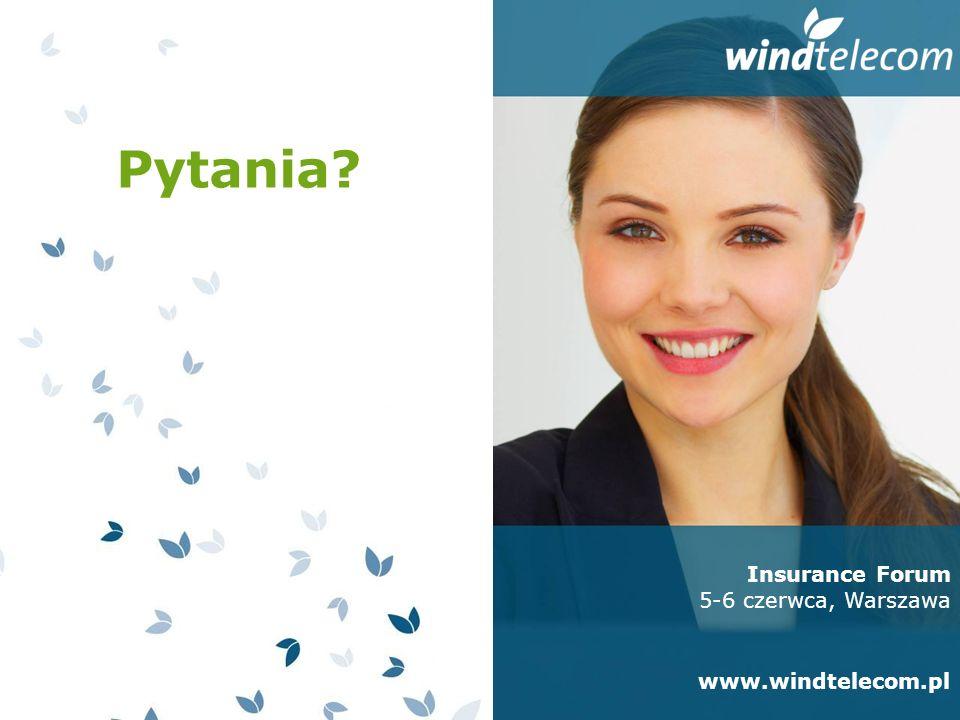 Insurance Forum 5-6 czerwca, Warszawa www.windtelecom.pl Pytania?