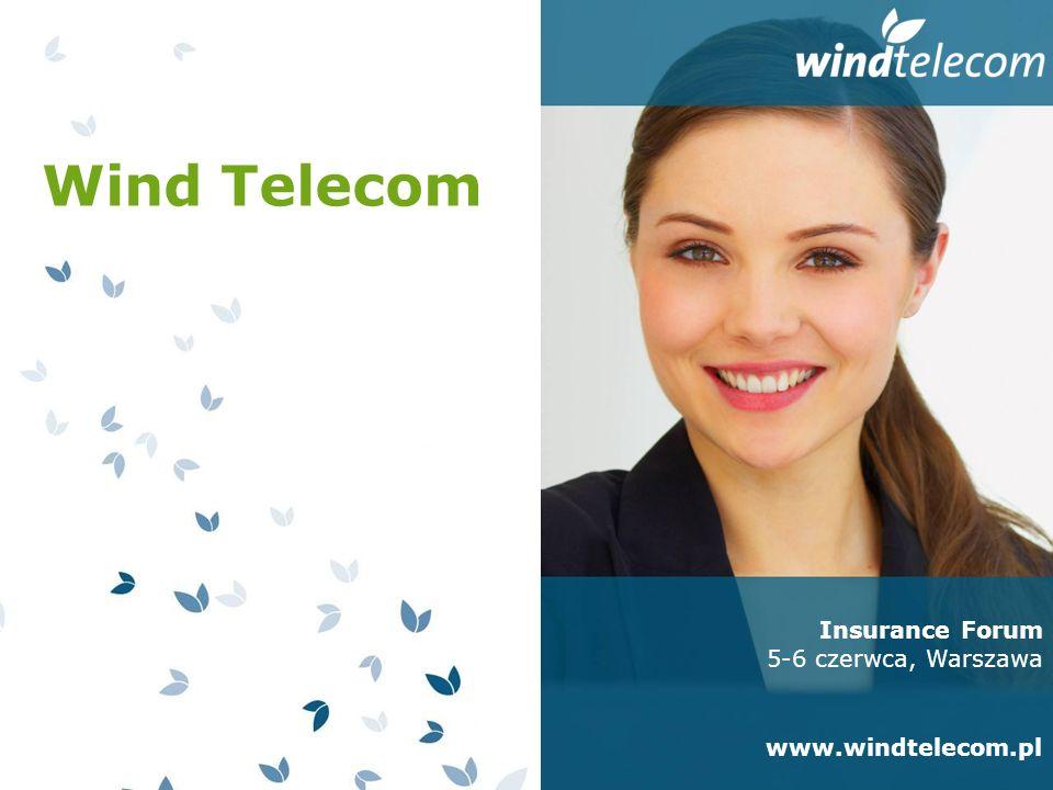 Wind Telecom Polski producent rozwiązań Contact Center i IVR Doświadczenie - na rynku od 1998 roku Wiedza - 70 polskich specjalistów Bliżej klienta - centrala firmy, centrum technologiczne i laboratorium w Krakowie, oddziały handlowo-serwisowe w Warszawie i Bukareszcie Międzynarodowi inwestorzy - European Renaissance Capital II (USA), Intel Atlantic (USA), Raiffeisen Group (Austria) Docenieni - trzykrotny laureat rankingu dla najdynamiczniej rozwijających się firm w Europie Centralnej i Wschodniej (Deloitte Technology Fast 50 CEE) Insurance Forum 5-6 czerwca, Warszawa