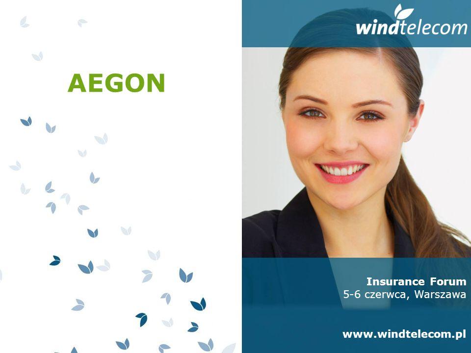 Insurance Forum 5-6 czerwca, Warszawa www.windtelecom.pl AEGON