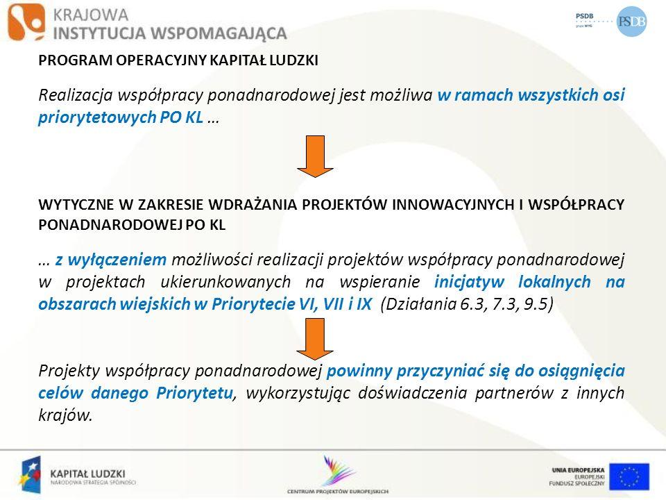 Zasady finansowania PO KL z dn.21.12.2010 r. (obowiązują od 01.01.2011) Dodano podrozdział dot.