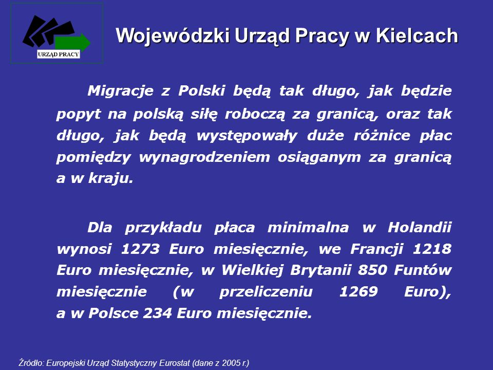 Migracje z Polski będą tak długo, jak będzie popyt na polską siłę roboczą za granicą, oraz tak długo, jak będą występowały duże różnice płac pomiędzy