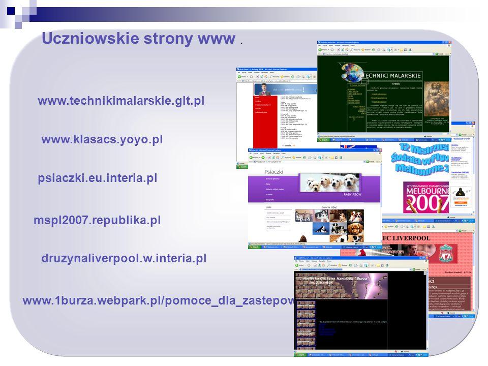Uczniowskie strony www.