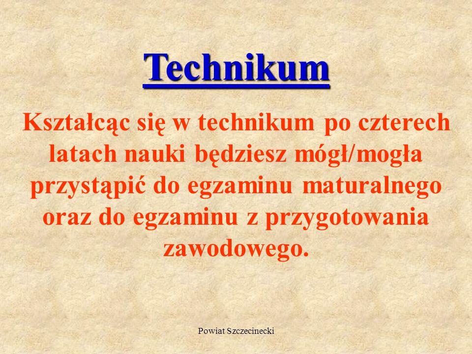 Powiat Szczecinecki PROFILE W LICEACH PROFILOWANYCH EKONOMICZNO-ADMINISTRACYJNY, ZARZĄDZANIE INFORMACJĄ, SOCJALNY LEŚNICTWO I TECHNOLOGIA DREWNA, KSZT