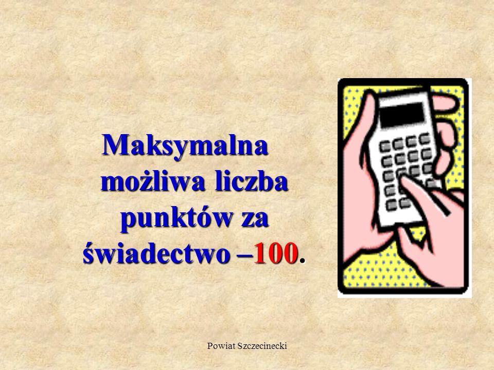 Powiat Szczecinecki 20 pkt kandydat otrzymuje za kryteria ustalone przez szkolna komisję rekrutacyjno- kwalifikacyjną (np. za ukończenie gimnazjum z w