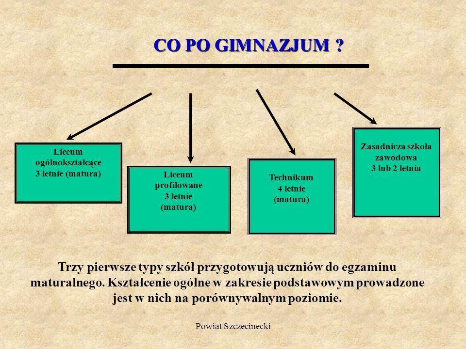 Powiat Szczecinecki Technikum Kształcąc się w technikum po czterech latach nauki będziesz mógł/mogła przystąpić do egzaminu maturalnego oraz do egzaminu z przygotowania zawodowego.