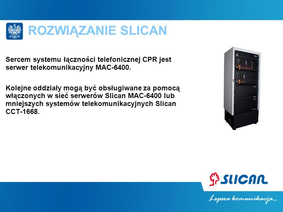 Sercem systemu łączności telefonicznej CPR jest serwer telekomunikacyjny MAC-6400. Kolejne oddziały mogą być obsługiwane za pomocą włączonych w sieć s