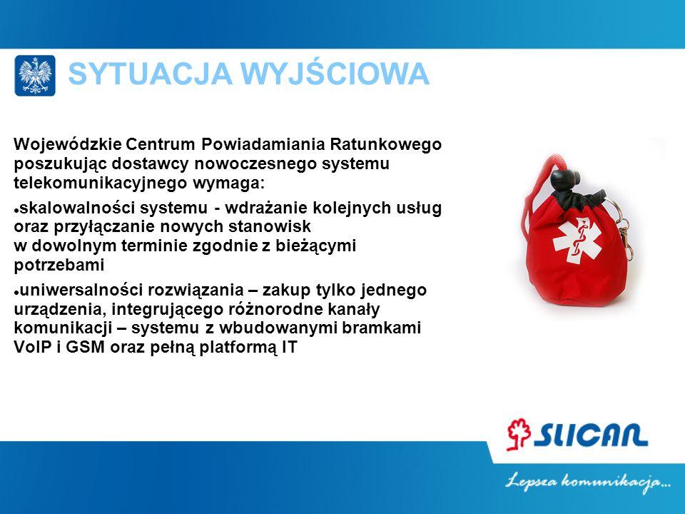 SYTUACJA WYJŚCIOWA Wojewódzkie Centrum Powiadamiania Ratunkowego poszukując dostawcy nowoczesnego systemu telekomunikacyjnego wymaga: skalowalności sy