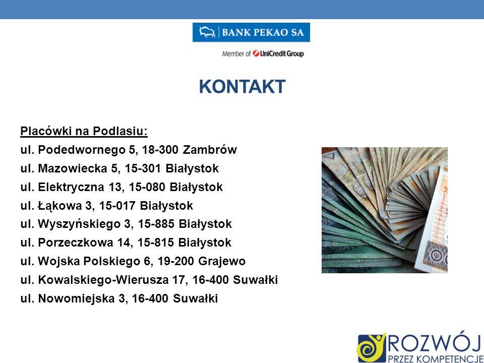 Placówki na Podlasiu: ul. Podedwornego 5, 18-300 Zambrów ul.