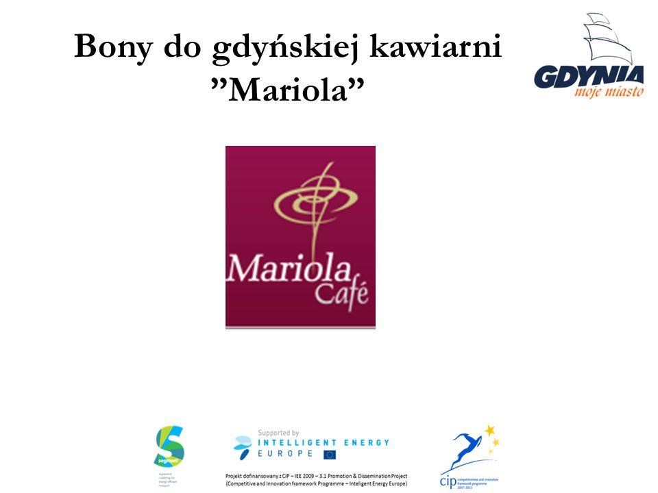 Bony do gdyńskiej kawiarni Mariola