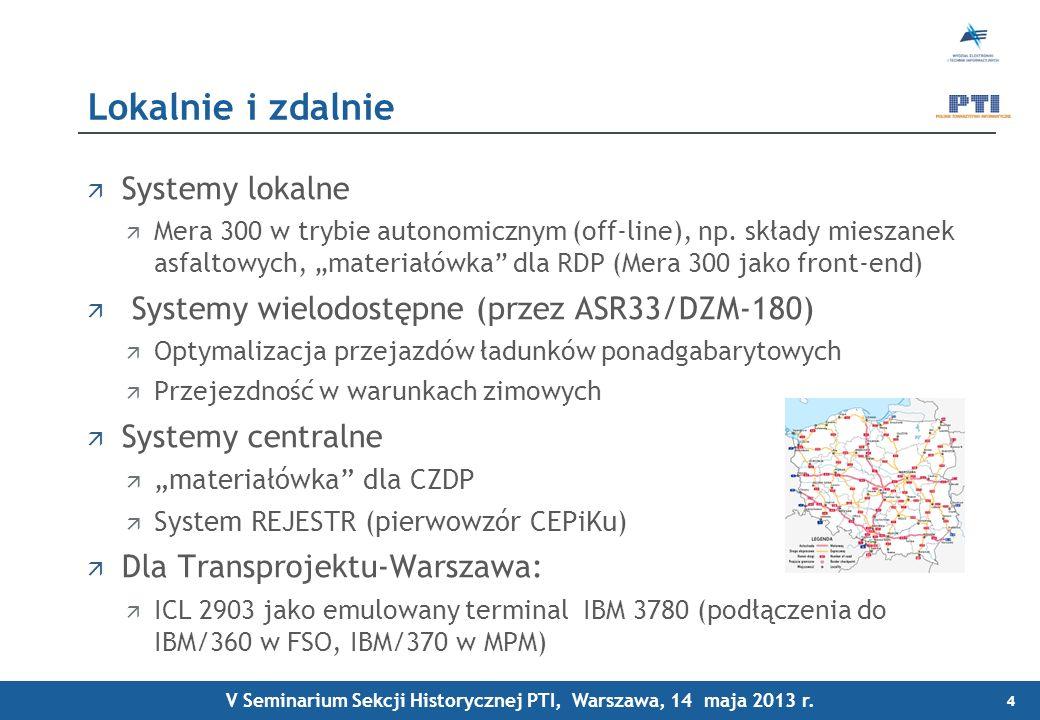 V Seminarium Sekcji Historycznej PTI, Warszawa, 14 maja 2013 r.