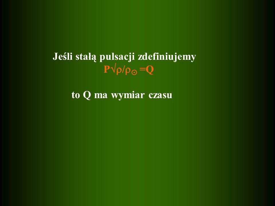 Jeśli stałą pulsacji zdefiniujemy P / =Q to Q ma wymiar czasu