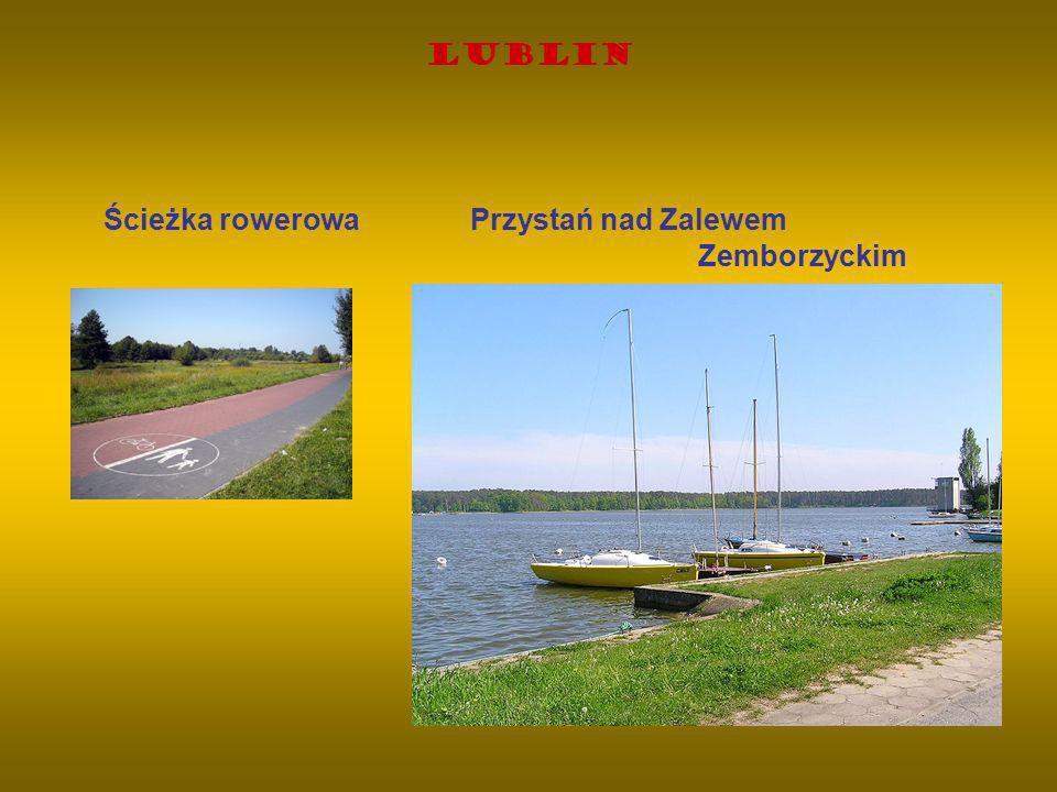 Lublin Ścieżka rowerowa Przystań nad Zalewem Zemborzyckim