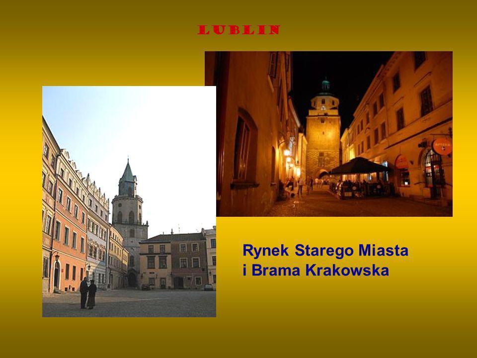 Lublin Rynek Starego Miasta i Brama Krakowska