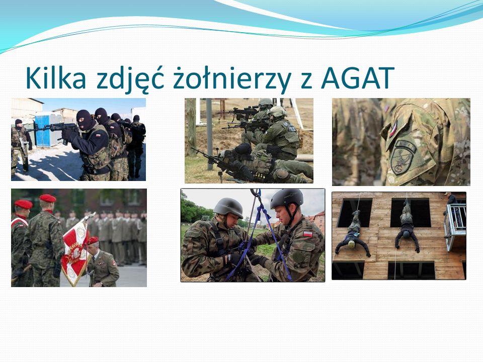 Kilka zdjęć żołnierzy z AGAT