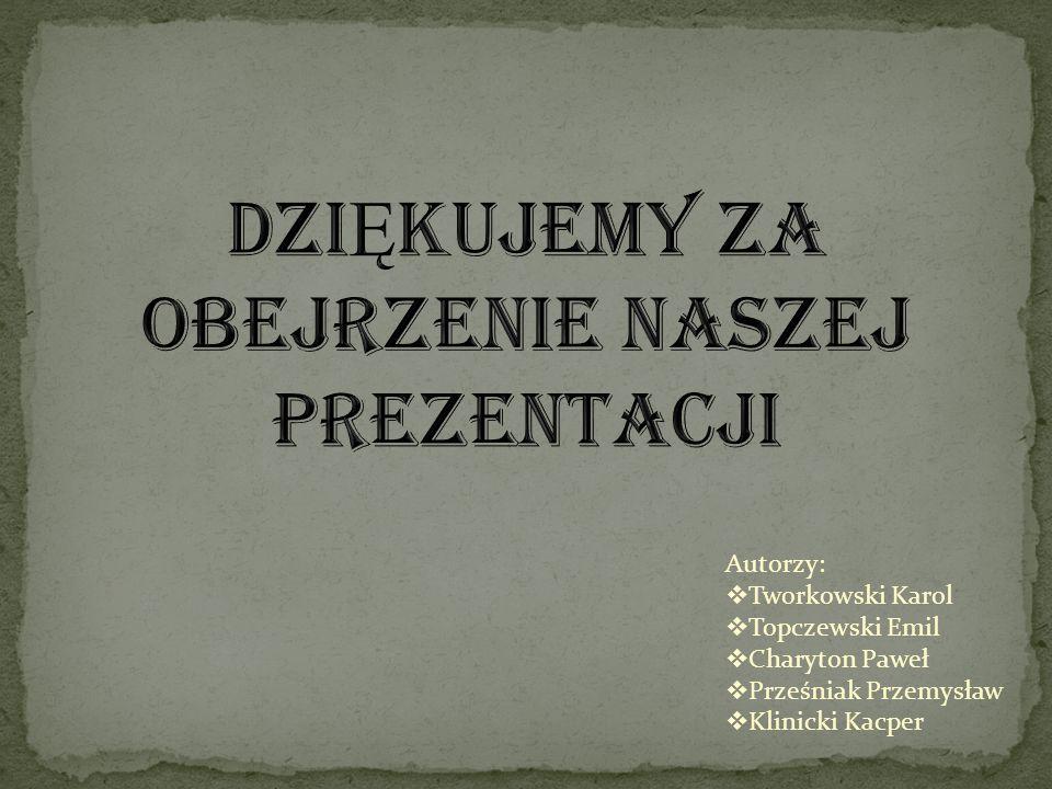 Autorzy: Tworkowski Karol Topczewski Emil Charyton Paweł Prześniak Przemysław Klinicki Kacper