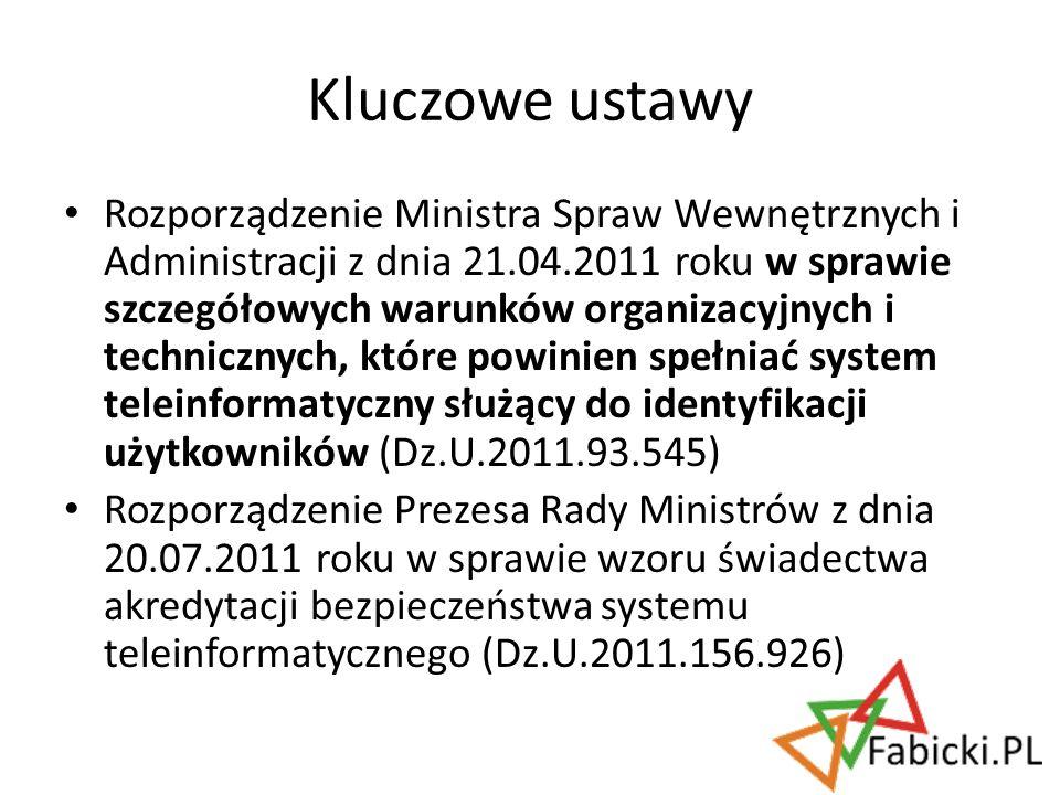 Rozporządzenie Ministra Spraw Wewnętrznych i Administracji z dnia 21.04.2011 roku w sprawie szczegółowych warunków organizacyjnych i technicznych, któ