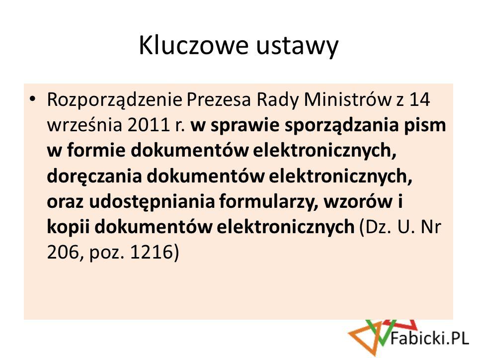 Rozporządzenie Prezesa Rady Ministrów z 14 września 2011 r. w sprawie sporządzania pism w formie dokumentów elektronicznych, doręczania dokumentów ele