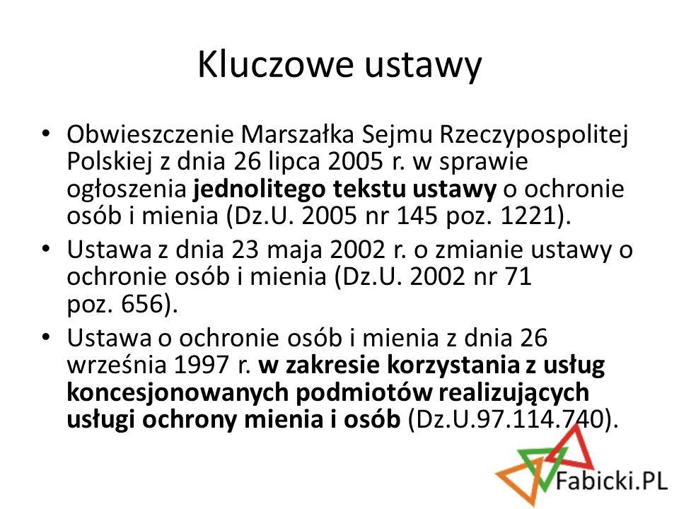 Obwieszczenie Marszałka Sejmu Rzeczypospolitej Polskiej z dnia 26 lipca 2005 r. w sprawie ogłoszenia jednolitego tekstu ustawy o ochronie osób i mieni
