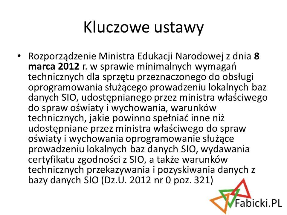 Rozporządzenie Ministra Edukacji Narodowej z dnia 8 marca 2012 r. w sprawie minimalnych wymagań technicznych dla sprzętu przeznaczonego do obsługi opr