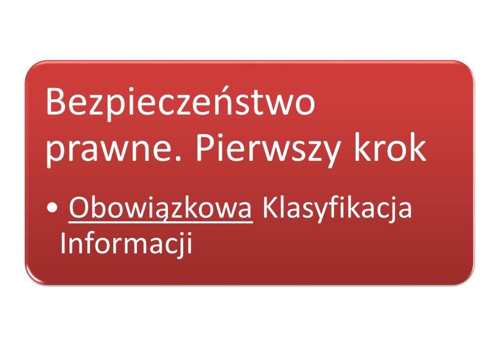 Rozporządzenie Ministra Spraw Wewnętrznych i Administracji z dnia 21.04.2011 roku w sprawie szczegółowych warunków organizacyjnych i technicznych, które powinien spełniać system teleinformatyczny służący do identyfikacji użytkowników (Dz.U.2011.93.545) Rozporządzenie Prezesa Rady Ministrów z dnia 20.07.2011 roku w sprawie wzoru świadectwa akredytacji bezpieczeństwa systemu teleinformatycznego (Dz.U.2011.156.926) Kluczowe ustawy
