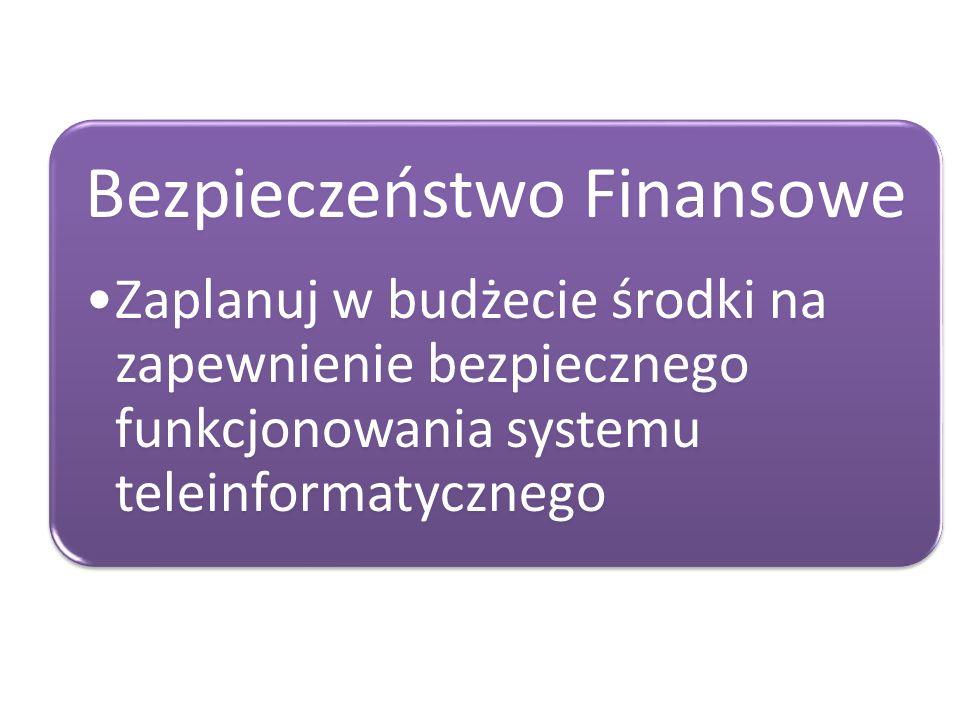 Zaplanuj w budżecie środki na zapewnienie bezpiecznego funkcjonowania systemu teleinformatycznego