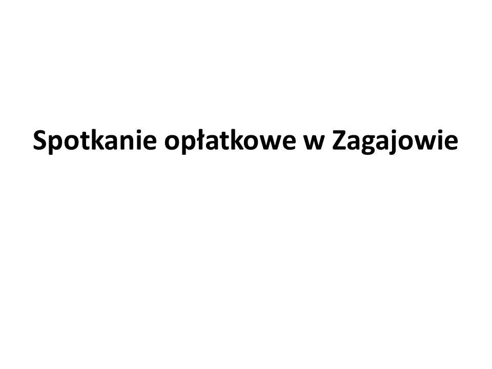 Spotkanie opłatkowe w Zagajowie