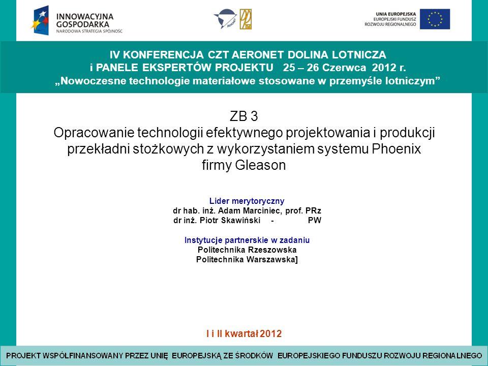 I i II kwartał 2012 IV KONFERENCJA CZT AERONET DOLINA LOTNICZA i PANELE EKSPERTÓW PROJEKTU 25 – 26 Czerwca 2012 r.