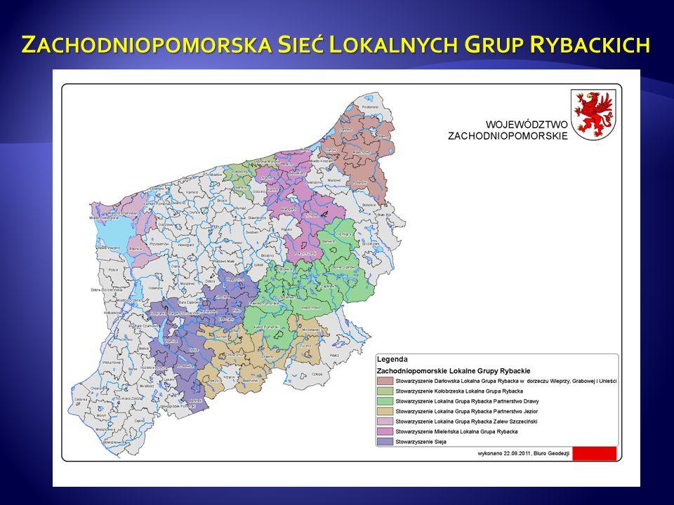 Grupy LGR z terenu Województwa Zachodniopomorskiego : 1.obejmują obszar: 11 021,27 km2, co stanowi 48,14 % powierzchni Województwa Zachodniopomorskiego; 2.skupiają łącznie: 494 136 mieszkańców; 3.dysponują łącznym budżetem w kwocie: 196 411 933,67 PLN; 4.obejmują 49 gmin - wiejskich, miejskich i miejsko-wiejskich.