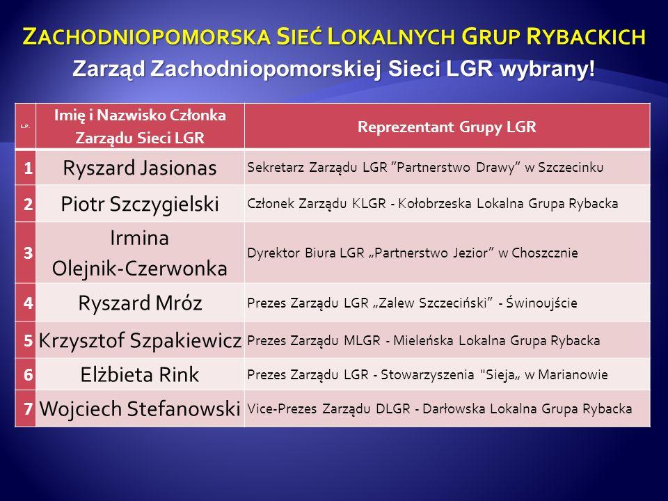 Z ACHODNIOPOMORSKA S IEĆ L OKALNYCH G RUP R YBACKICH 20 czerwca b.r.