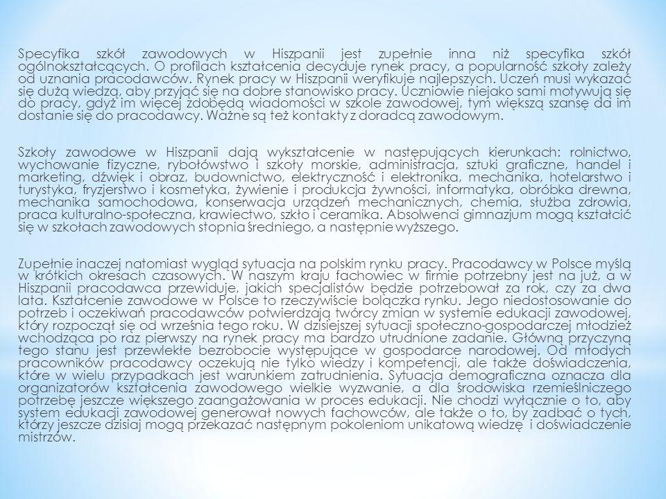 W związku z tym, ważne jest wzmocnienie roli pracodawców w kształceniu zawodowym uczniów w szkołach ponadgimnazjalnych.