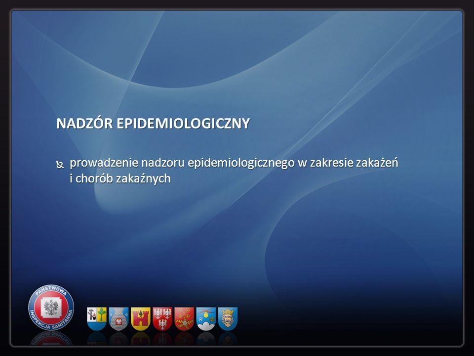 NADZÓR EPIDEMIOLOGICZNY prowadzenie nadzoru epidemiologicznego w zakresie zakażeń i chorób zakaźnych prowadzenie nadzoru epidemiologicznego w zakresie