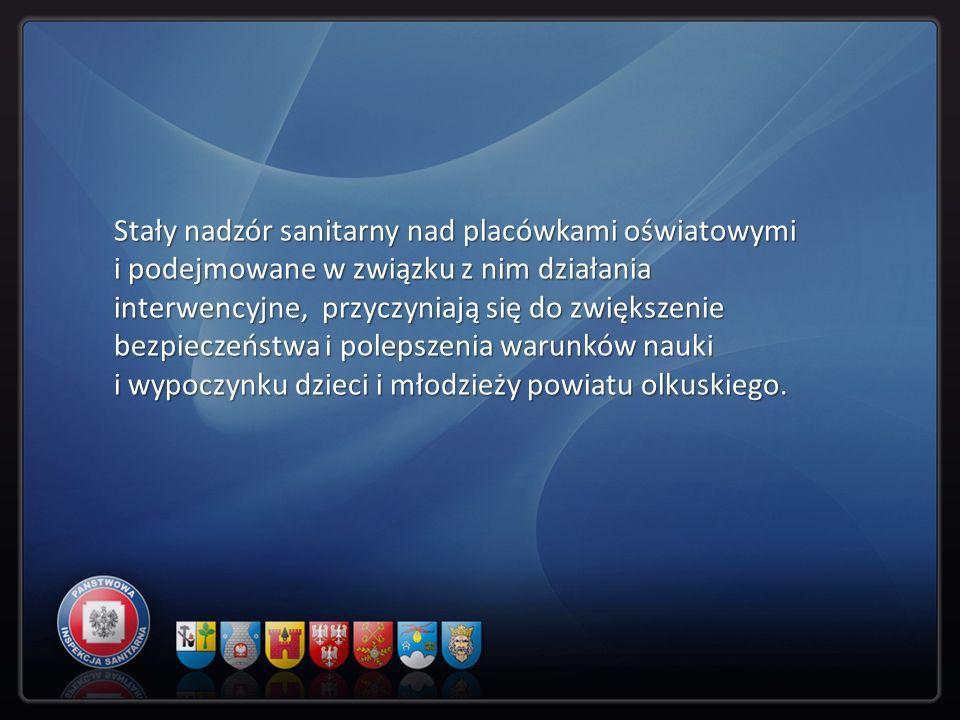 Stały nadzór sanitarny nad placówkami oświatowymi i podejmowane w związku z nim działania interwencyjne, przyczyniają się do zwiększenie bezpieczeństw