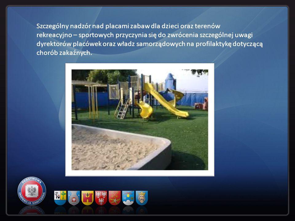 Szczególny nadzór nad placami zabaw dla dzieci oraz terenów rekreacyjno – sportowych przyczynia się do zwrócenia szczególnej uwagi dyrektorów placówek