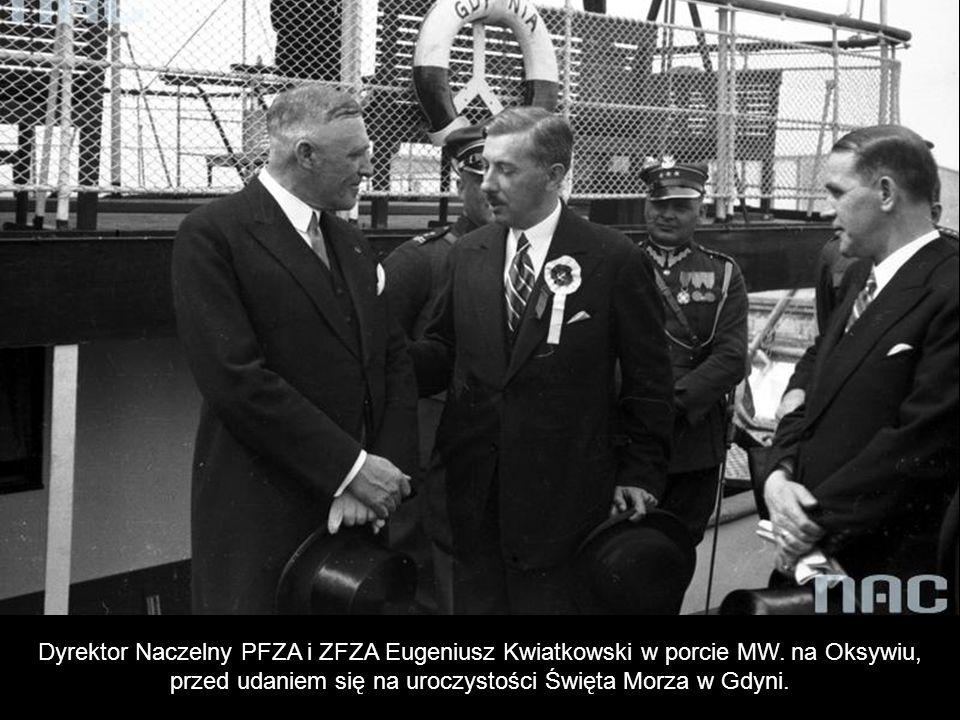 Prezes Zarządu Głównego Ligi Morskiej i Kolonialnej gen. Gustaw Orlicz – Dreszer, gen. Sergiusz Zahorski i gen. Stanisław Kwaśniewski.