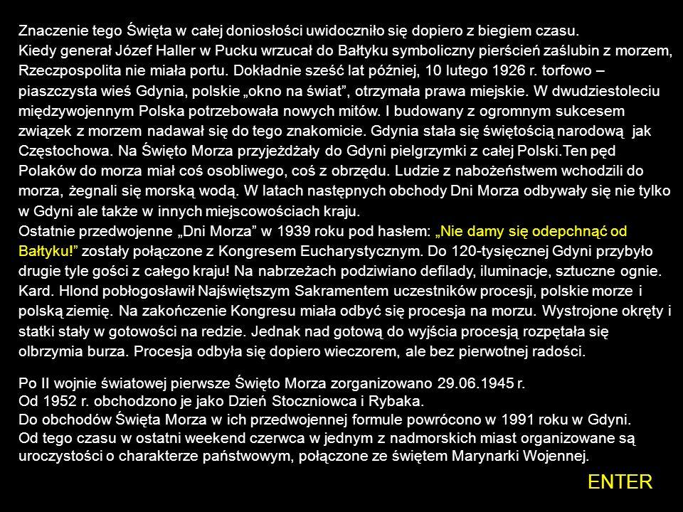 Święto Morza w Gdyni 31 lipca 1932 r. Pomysłodawcą obchodów Dni Morza był członek Zarządu Ligi Morskiej i Kolonialnej Andrzej Wachowiak. To on podpatr